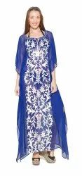 Georgette Embroidery Long Kaftan