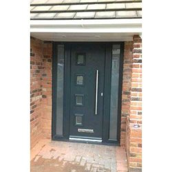 Exterior Hinged Designer UPVC Doors