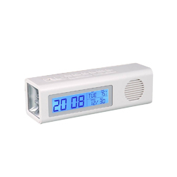 White Table Clock Digital Alarm with FM & Torch, A100