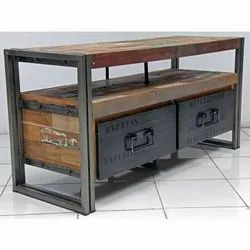Wooden Metal And Wood Industrial Cabinet