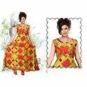 L-xxl Party Wear Ladies Rayon Printed W Kurti