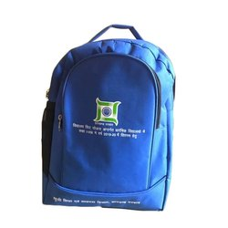 Nylon Blue Promotional Backpack, Number Of Compartments: 2, Capacity: 10kg
