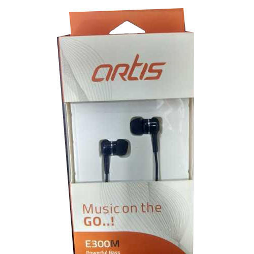 Black Artis E300M Earplug Earphone