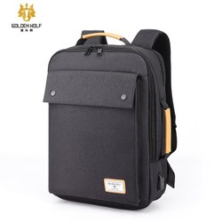 Hoteon Golden Wolf 3-in-1 Laptop Backpack, Fits up to 15.6 Inch Laptop with USB Charging Port