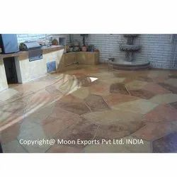 Pink Flagstone for Flooring, Thickness: 5-10 mm
