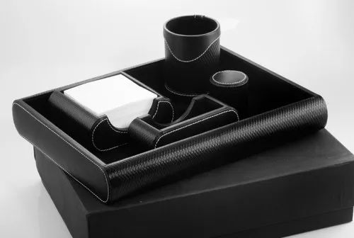 Leatherette Desk Accessories