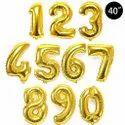 Numerical Foil Balloons