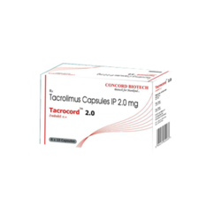 Tacrocord 2mg Capsules