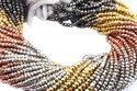 Multi Pyrite Faceted Beads