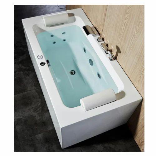 Pearl White Whirlpool Bathtub Novatech Enviro Systems Private