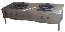 Vijay Udyog Stainless Steel Two Burner Cooking Range