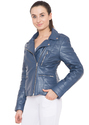 Leather Biker Jacket - Women
