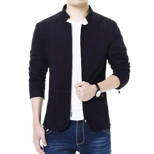 S Xxl Black Stylish Boys Jacket Libas Tailor Drapers Id