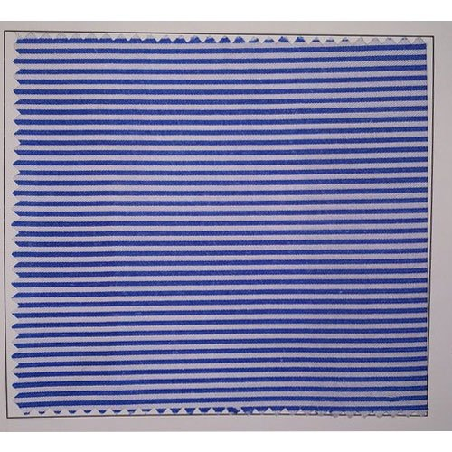 Terry Cotton Stripe School Uniform Fabric, GSM: 100 - 150