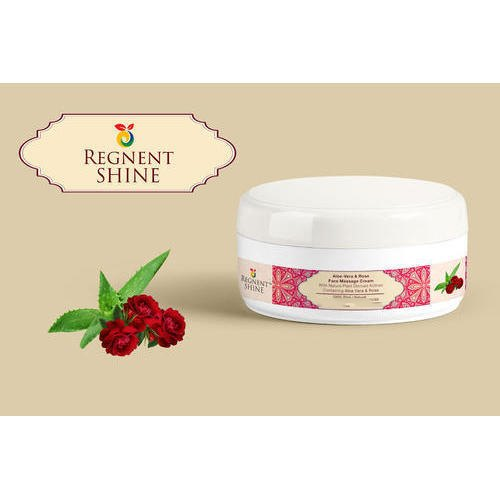 Regnent Shine Face Massage Cream, Packaging Type: Round Box