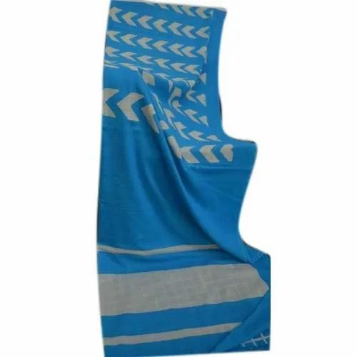 Casual Fancy Cotton Printed Saree, Machine wash