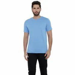 Plain Round Supima Cotton Solid Iconique T-Shirt For Men, Quantity Per Pack: 5 Pieces