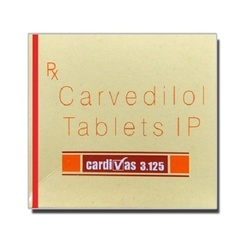 Cardivas 3.125mg Tablet