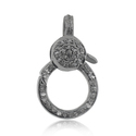 Pave Diamonds 925 Sterling Silver Clasp Lock