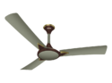 Luminous Three Blade Metal Warrior Ceiling Fan, Color : Champagne Gold