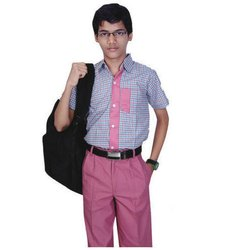 Summer Cotton Boys School Uniform, Size: XS, Small, Medium, Large, XL, Packaging Type: Poly Pack