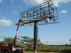 Iron Panel Build Unipole Fabrication Service
