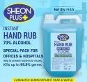 Sheon Plus Instant Hand Rub 73% Alcohol 5 Litre Pack for Offices & Hospitals