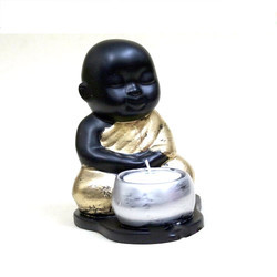Sitting Baby Monk Buddha Tea Light