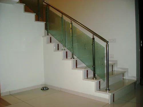 Bar Staircase Design Glass Handrailing, Rs 1800 /running ...