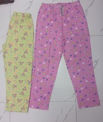 Regular Fit Cotton Printed Girls Pants