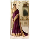 Silk Purple Party Wear Saree, 6 M (with Blouse Piece)