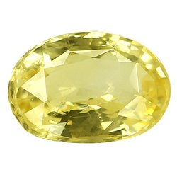 Oval - Cut Natural Ceylon Yellow Sapphire