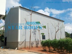 Metal roofing shed
