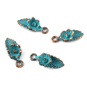 Leaf Flower Patina Charms