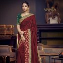 Embroidered Bordered Silk Saree