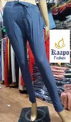 Plain Pleated Ladies Pants