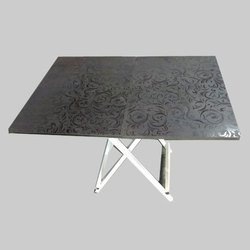 Printed Wooden Folding Table hostel furniture