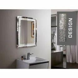 Glossy Bathroom Glass Mirror