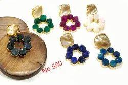 Duzhi Stone Bali Earring