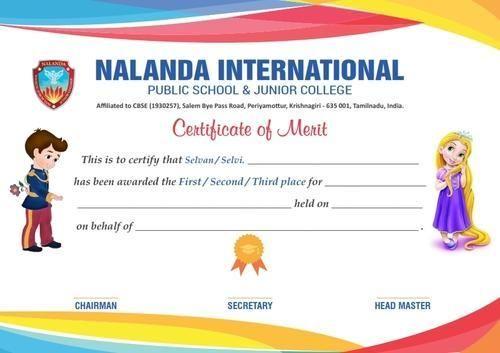 a4 school certificate design  u0026 print  netway prints