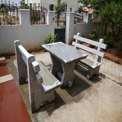 Outdoor Garden Stone Bench Size 4 Feet And 6 Feet Rs 25000 Set Id 17966364855