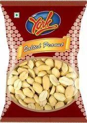 York Salty 40 Gram Salted Peanuts Namkeen, Packaging Type: Packet