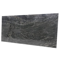 Polished Agatha Black Granite Slab, Thickness: 20 mm