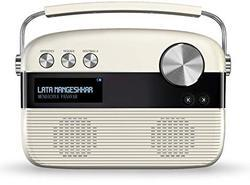 Porcelain White and Oakwood Brown Saregama Carvaan Portable Digital Music Player