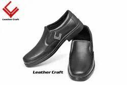 Black Leather Buggati Shoes, Size: 6-10