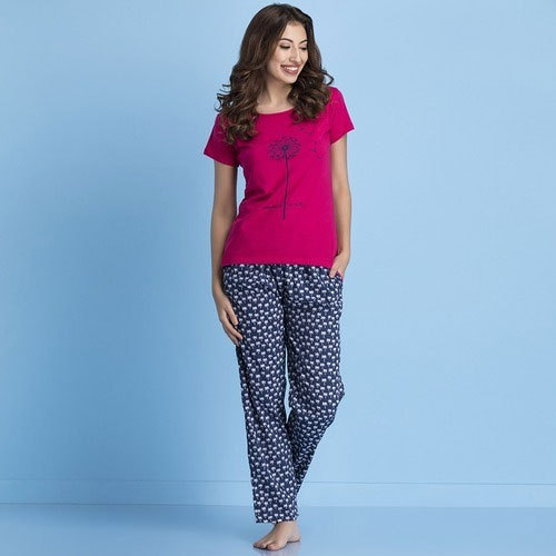 7473d94428 Casual Wear Printed Ladies Fancy Pyjama Set
