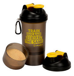 soot/yellow iShake vault 2 in 1 Soot Yellow Shaker Bottle, Capacity: 500ml