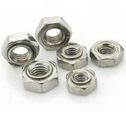 Polished Round, Hexagonal MS High Tensile Weld Nut, Bag
