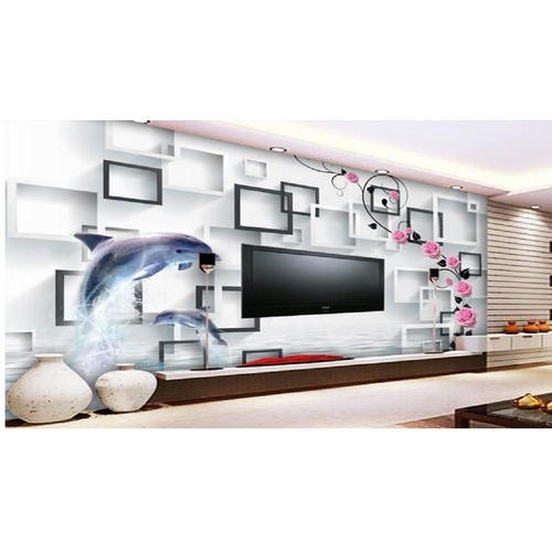 White Pvc And Vinyl 3d Wallpaper For Drawing Room Wall Rs 80