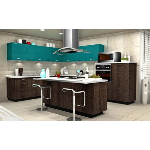 Sleek World Plywood Island Kitchen, Kitchen Cabinets